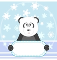 panda with sign vector image vector image