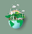 paper art of eco friendly family concept vector image vector image