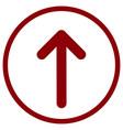 pointer arrow in modern flat style arrow button vector image vector image