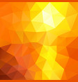 polygonal square background summer orange yellow vector image vector image