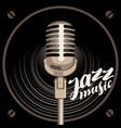 poster for jazz music with speaker and microphone vector image vector image