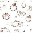 pumpkin sketch hand drawn vector image vector image