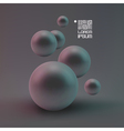 Random spheres background vector image