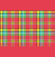 red yellow check plaid seamless fabric texture vector image vector image