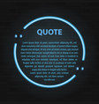 retro hipster neon quote marks on wall vector image vector image