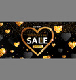 sale banner for valentines days 50 percent off vector image vector image
