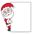 Santa Claus with poster vector image