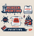 screen printing colorful concept vector image vector image