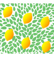 seamless leaves pattern with fresh lemon vector image vector image