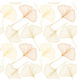 seamless pattern with ginkgo biloba leaves vector image vector image