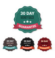 set medals money back in 30 days guarantee vector image
