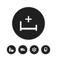 set of 5 editable hospital icons includes symbols vector image