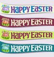 set ribbons for easter holiday vector image vector image