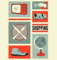 shopping center information sign set vector image vector image