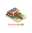 shopping center store mall isometric composition vector image