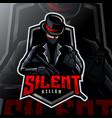 silent killer mascot logo esport vector image vector image