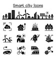 smart city sustainable town eco friendly city vector image vector image