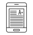 Smartphone learning icon outline style