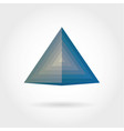 smooth color gradient triangle icon logo vector image vector image