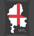 staffordshire map england uk with english vector image vector image