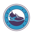 tennis shoes sport icon vector image