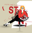 the fashionable girl in style pop art vector image vector image