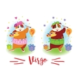 The signs of the zodiac Guinea pig Virgo vector image