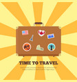 time to travel bright poster vector image vector image