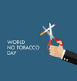 tobacco abuse concept poster vector image