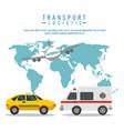 transport logistic set vehicles vector image