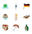 Travel to Germany icons set cartoon style vector image vector image