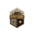 traveling outdoor badge scout camp emblem