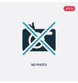 two color no photo icon from museum concept vector image vector image
