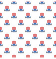 usa hat constitution day pattern seamless vector image vector image