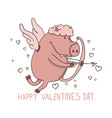 valentines day hand drawn funny vector image
