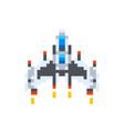 vintage spaceship game hero in pixel art style vector image vector image