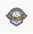 volleyball club badge logo-3 vector image vector image