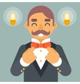 Wealthy Victorian Gentleman Businessman Character vector image vector image
