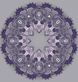 Circular ornament template for the backgrounds vector image