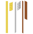 set of rope vector image