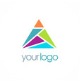 triangle colorful shape logo vector image