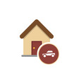 house and car icon vector image