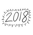 2018 hand draw icon vector image