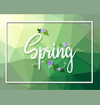 a spring text template vector image