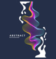 abstract background with a dynamic waves linesn vector image vector image