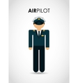 air pilot vector image vector image