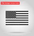 american national official political flag icon vector image