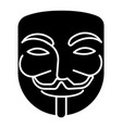 anonymous - mask carnival - hacker icon vector image vector image