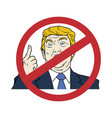 anti donald trump president of the united states vector image vector image