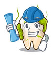 architect cartoon unhealthy decayed teeth in mouth vector image